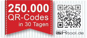 QRtool.de hat 250.000 QR Codes in 30 Tagen ausgeliefert!