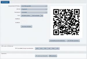 Der überarbeitete Design QR Code Generator bietet mehr Funktionalität.