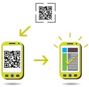 Rechtsanwälte nutzen das Festlegen ihrer Adresse per QR-Code im Smartphone der Kunden